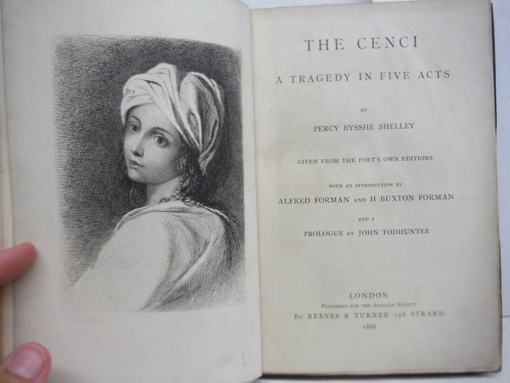 Image 1 of The Cenci A Tragedy in Five Act