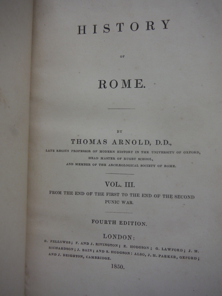 Image 1 of HISTORY OF ROME, 3 Volumes