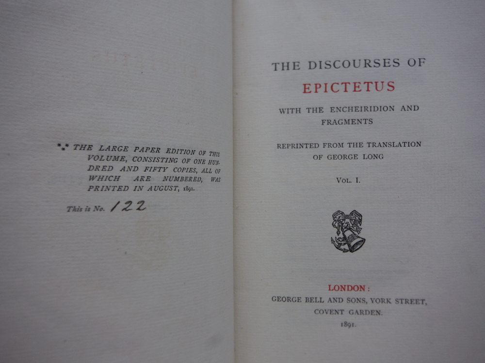 Image 3 of The Discourses of Epictetus, with the Encheiridion and Fragments. In Two Volumes