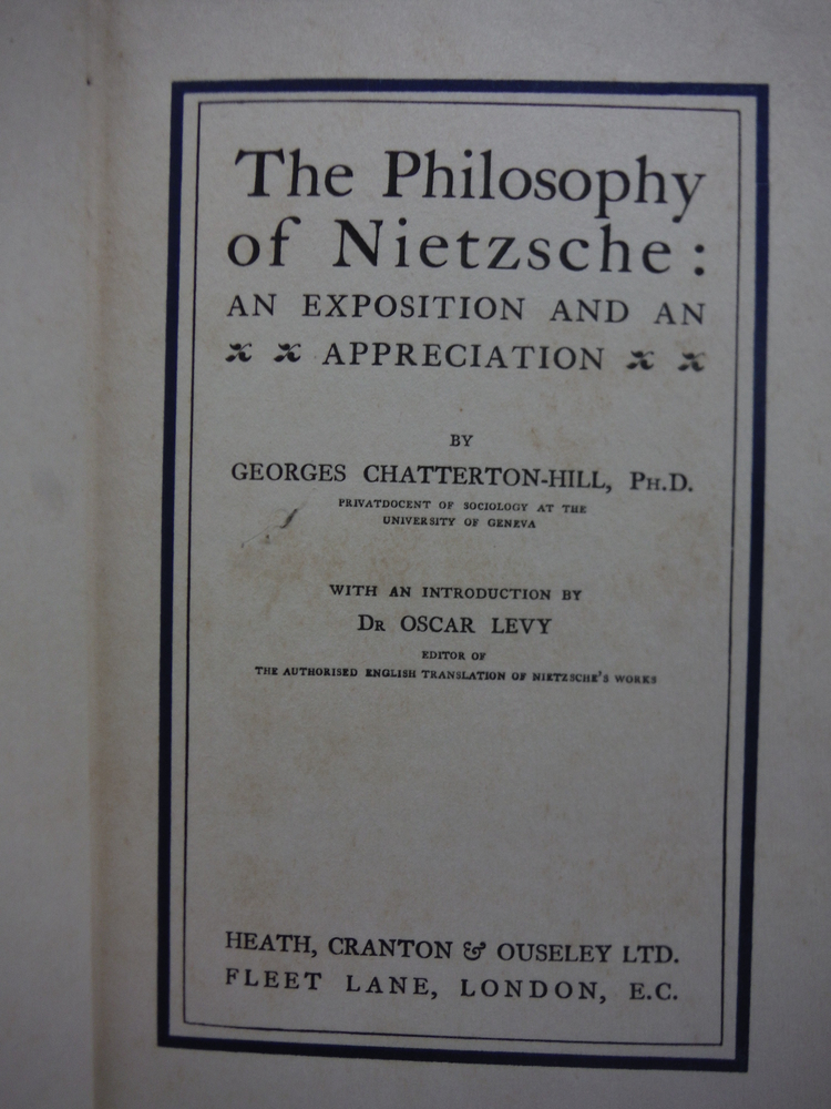 Image 1 of The Philosophy of Nietzsche: An Exposition and an Appreciation