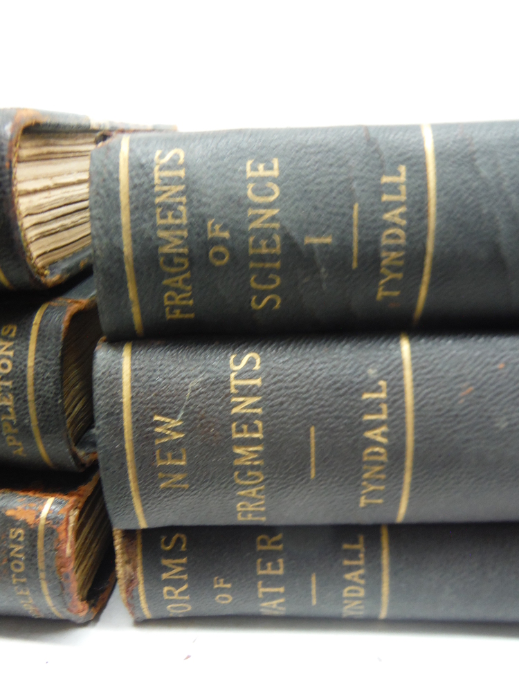 Image 1 of  JOHN TYNDALL SCIENCE BOOKS; SET OF 6 : Fragments of Science, Vols I & II; Forms