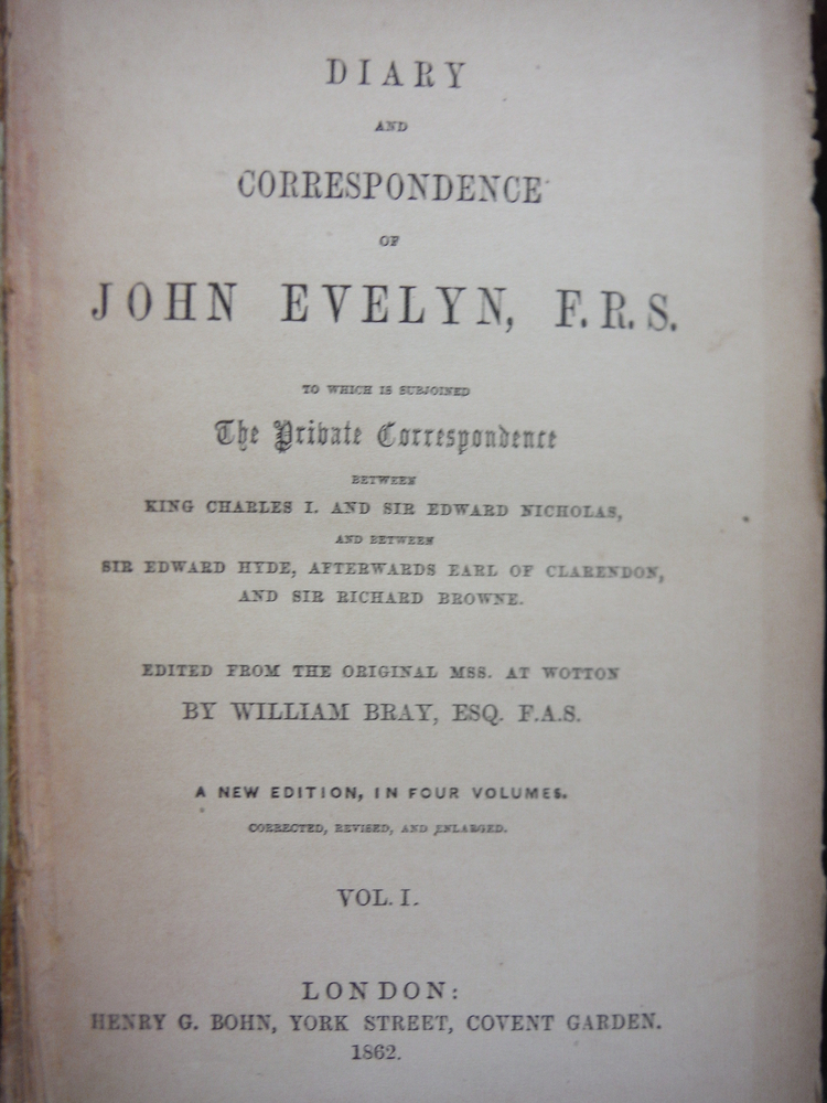 Image 2 of Diary and Correspondence of John Evelyn F.R.S. (4 Vols)