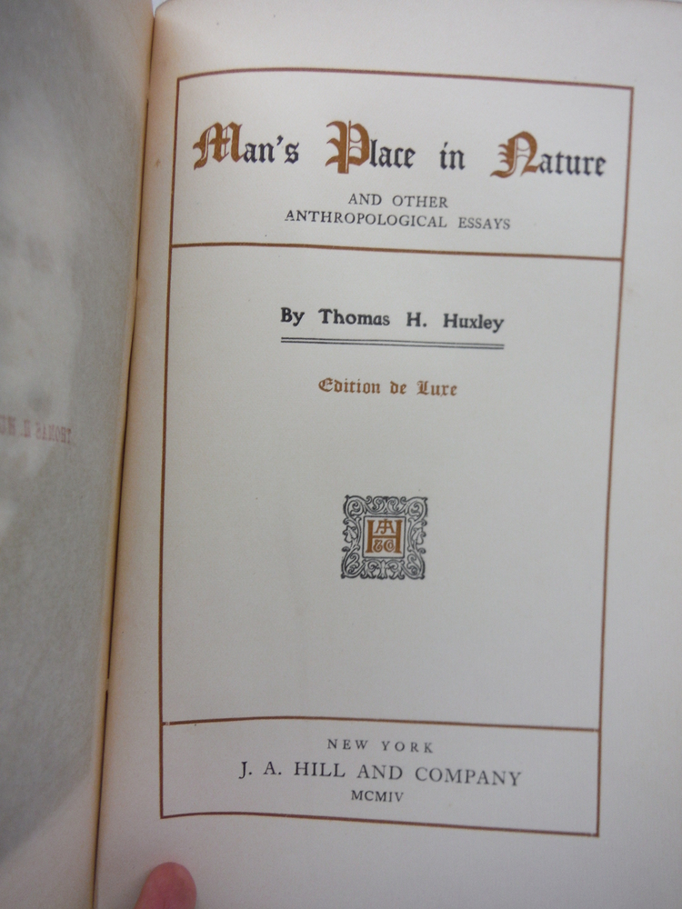 Image 1 of Man's Place in Nature and other Anthropological Essays