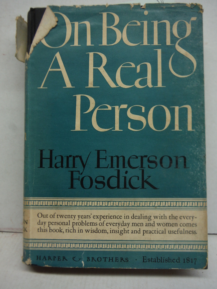 On being a real person 1943 [Hardcover]