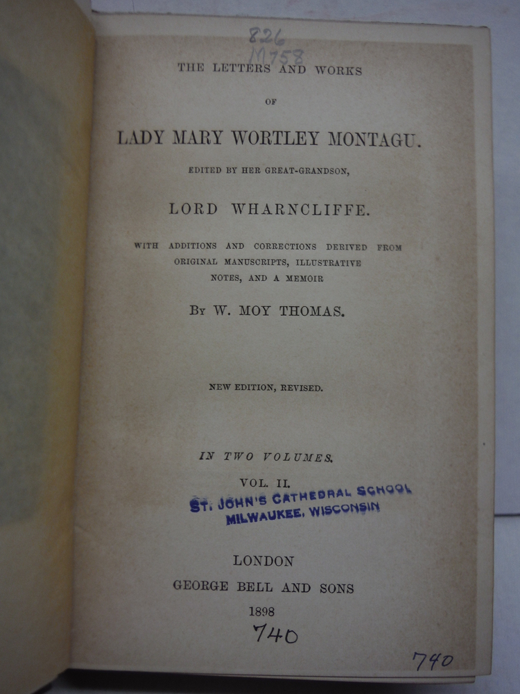 Image 2 of The Letters and Works of Lady Mary Wortley Montagu