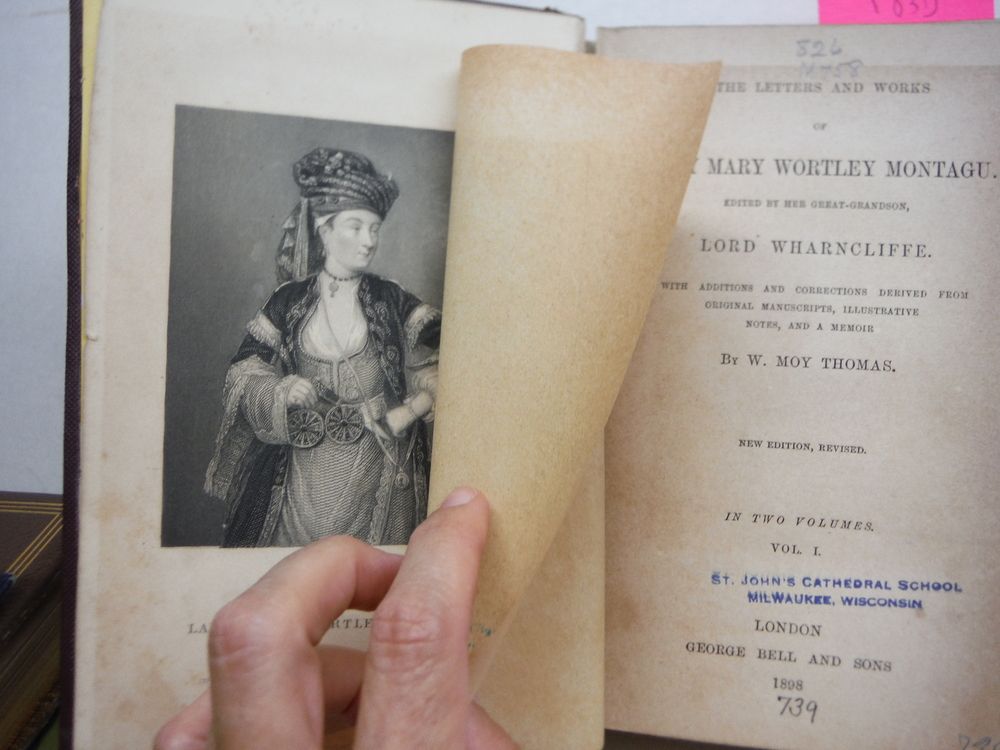 Image 3 of The Letters and Works of Lady Mary Wortley Montagu