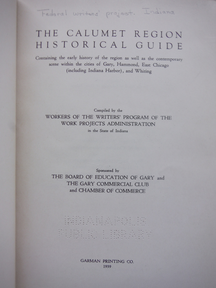 Image 1 of The Calumet Region Historical Guide