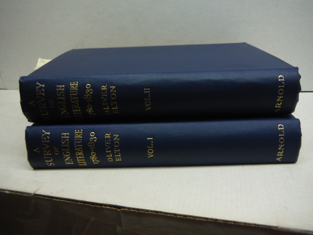 A Survey of English Literature 1780-1830 in Two Volumes