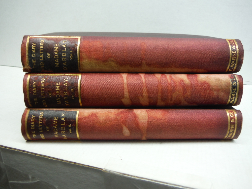 The Diary and Letters of Madame D'Arblay (Frances Burney) 3 Vols.