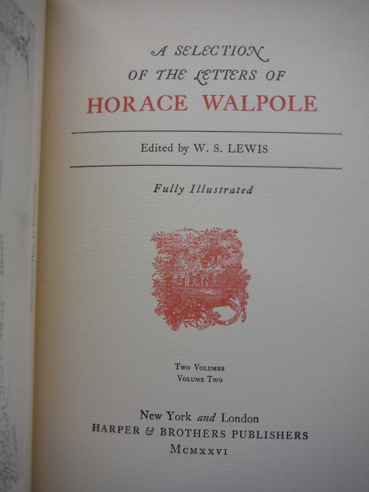 Image 3 of A Selection of the Letters of Horace Walpole (two volume set)