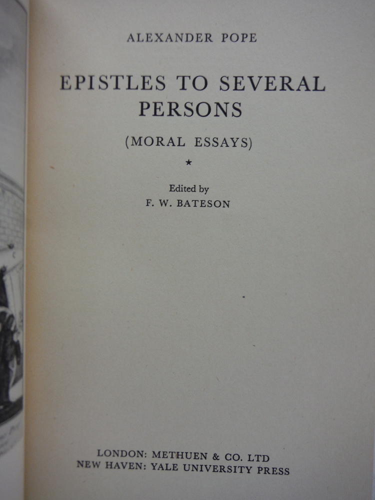 Image 1 of Epistles to Several Persons (Moral Essays)