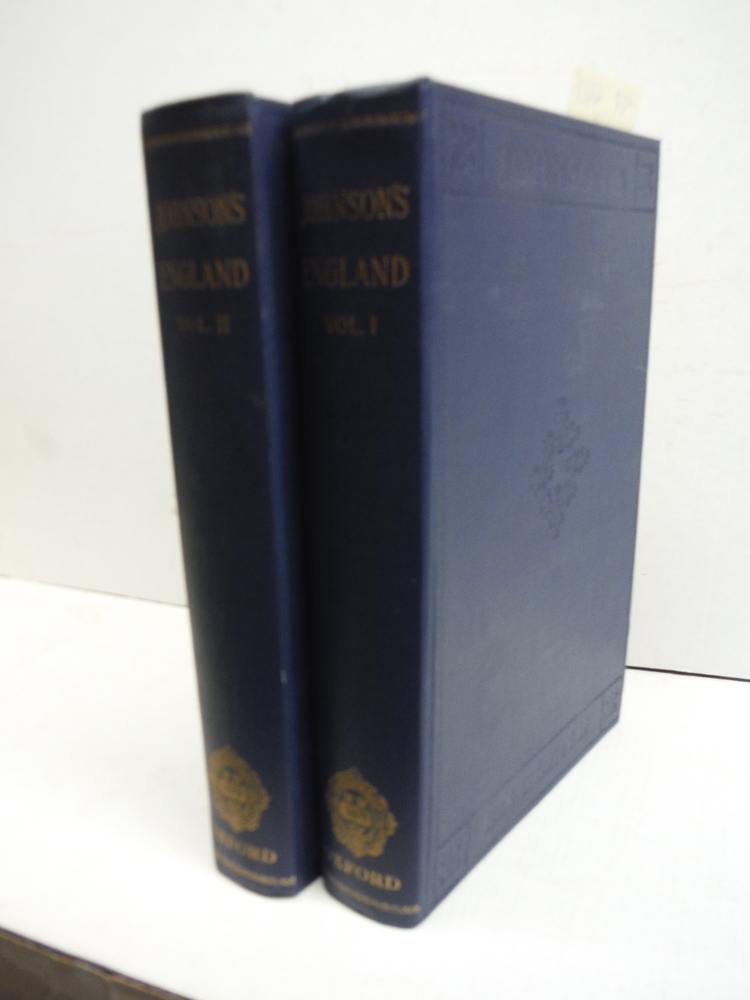 Johnson's England An Account of the Life & Manners of his age (2 Vols)