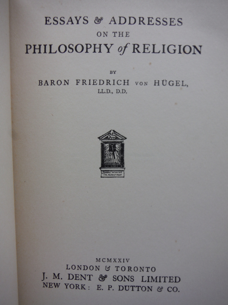 Image 1 of Essays & Addresses on the Philosophy of Religion