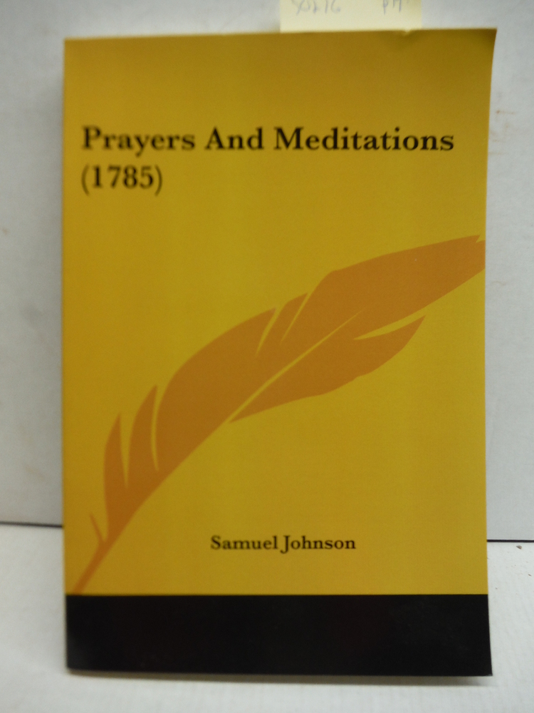 Prayers And Meditations (1785)