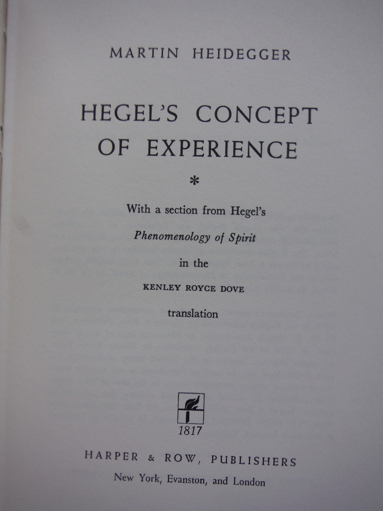 Image 1 of Hegel's Concept of Experience