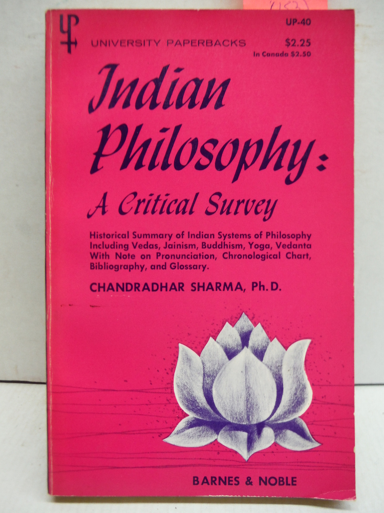 Indian Philosophy: A Critical Survey