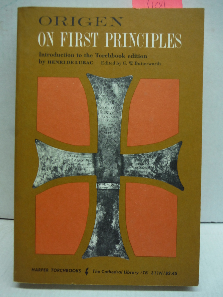 Image 0 of On First Principles: Being Koetschau's Text of the De Principiis (The Catheral L
