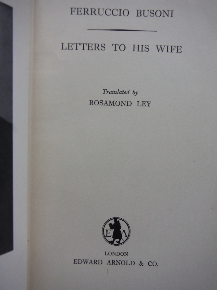 Image 1 of Busoni's Letters to his Wife