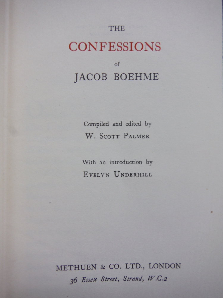 Image 1 of The Confessions of Jacob Boehme