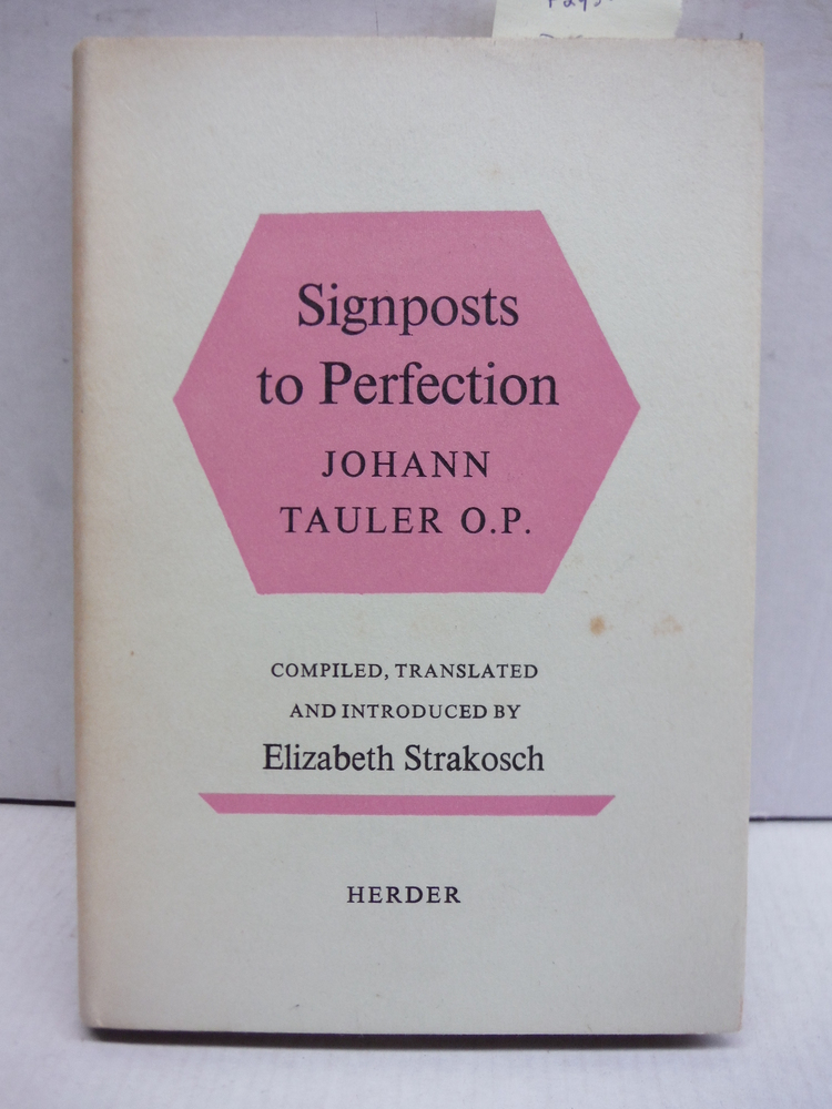 Image 0 of Signposts to Perfection: A Selection from the Sermons of Johann Tauler