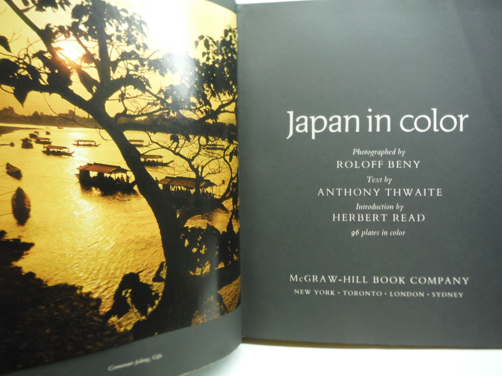 Image 1 of Japan in Color Roloff Beny/anthony Thwaite 96 Plates in Color 1967 Mcgraw-hill