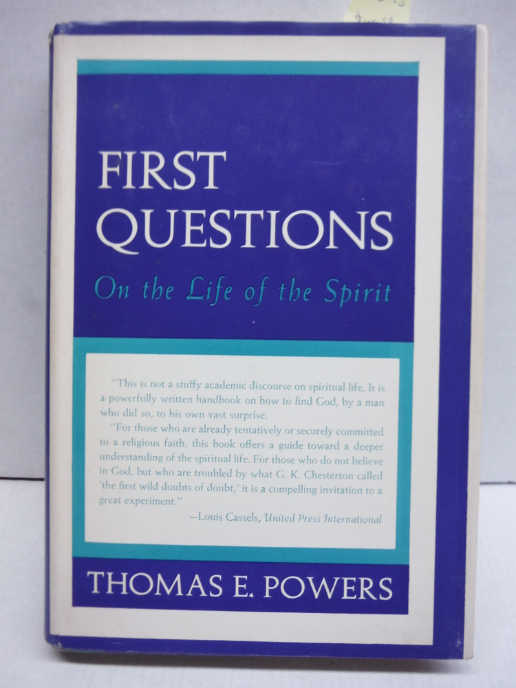 Image 0 of First Questions on the Life of the Spirit