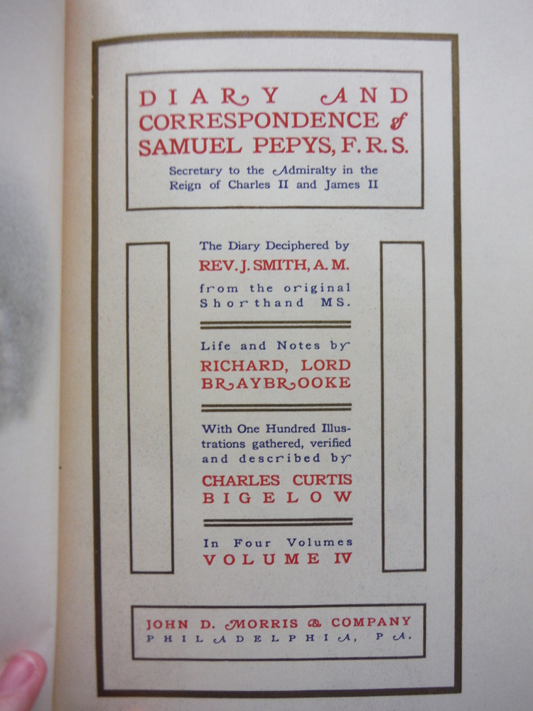 Image 2 of Diary and correspondence of Samuel Pepys, F.R.S. [4 volumes]
