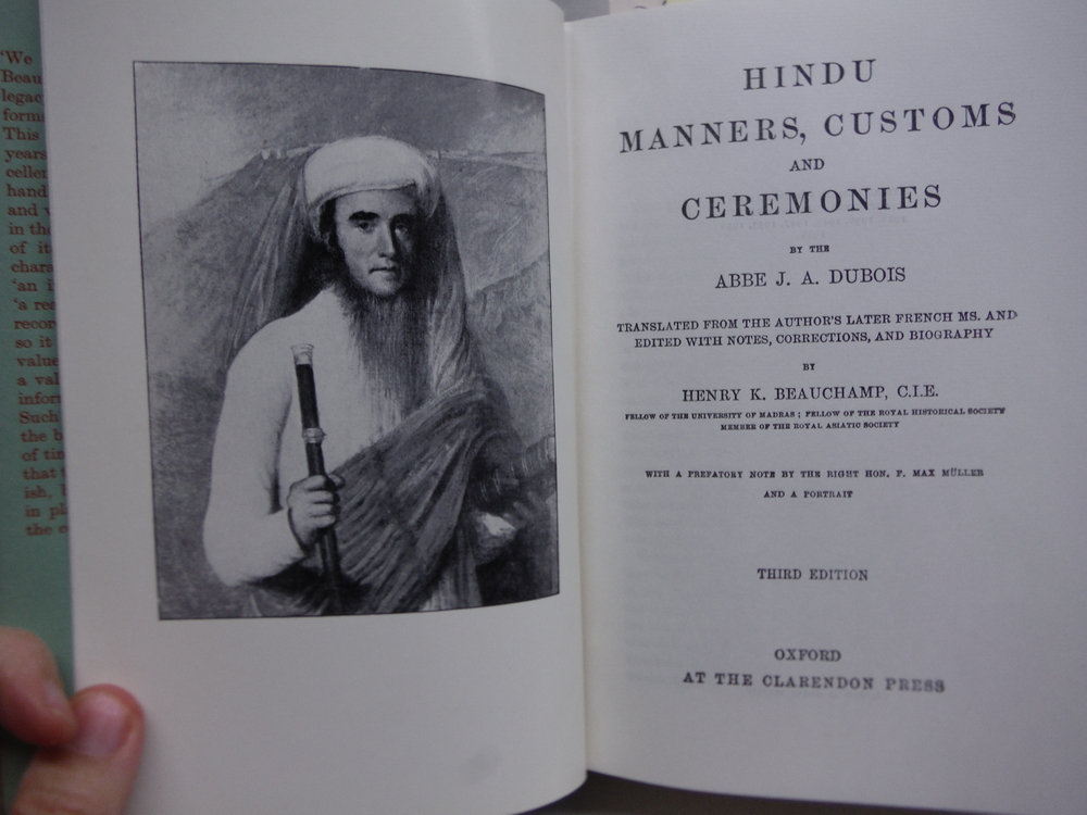 Image 1 of Hindu Manners, Customs and Ceremonies (Third Edition)