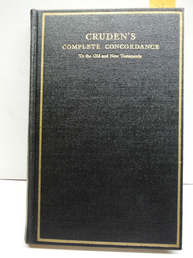 Image 0 of Cruden's Complete Concordance to the Old and New Testaments