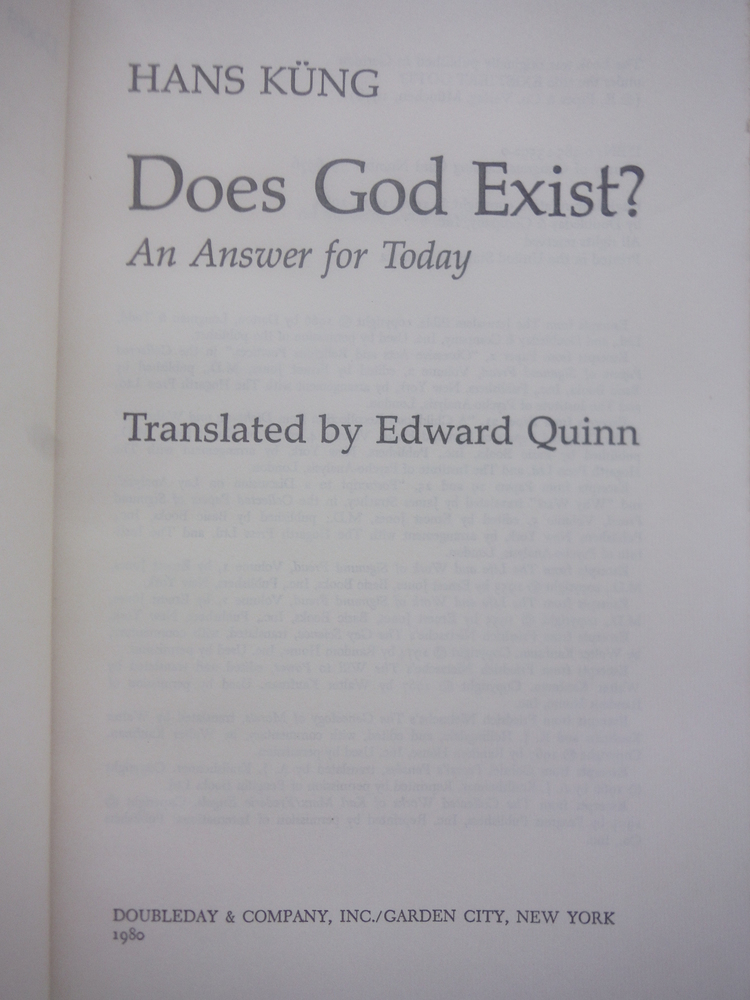 Image 1 of Does God Exist?: An Answer for Today (English and German Edition)