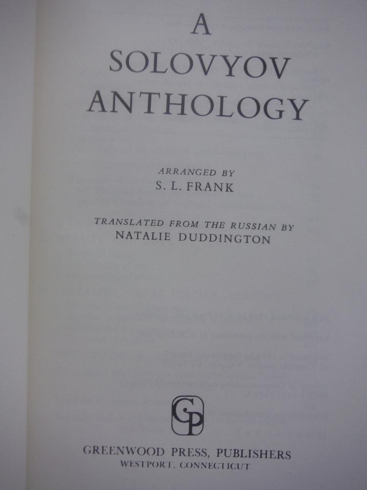 Image 1 of A Solovyov Anthology