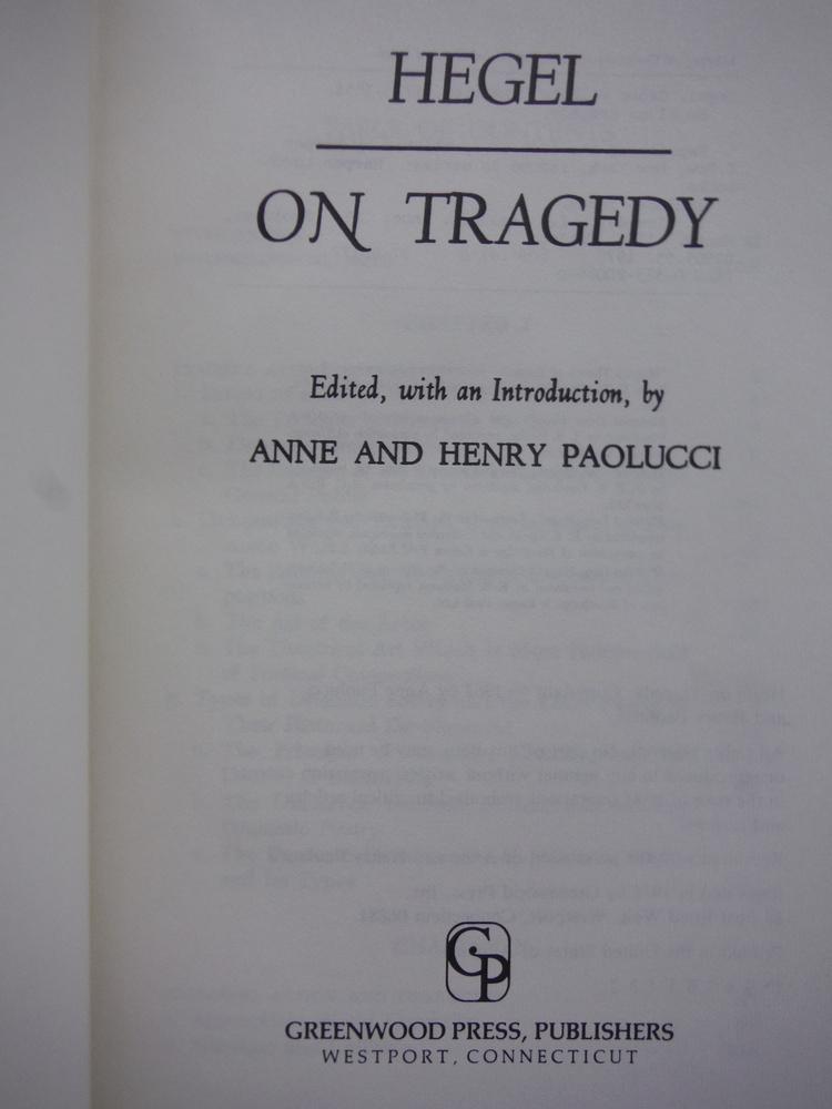 Image 1 of Hegel on Tragedy