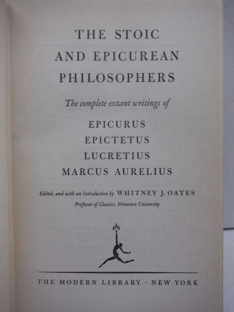 Image 1 of Stoic and Epicurean Philosophers / the Complete Extant Writings of Epicurus, Epi