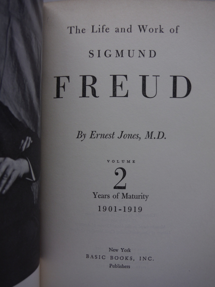 Image 2 of The Life and Work of Sigmund Freud [Volumes 1-3]