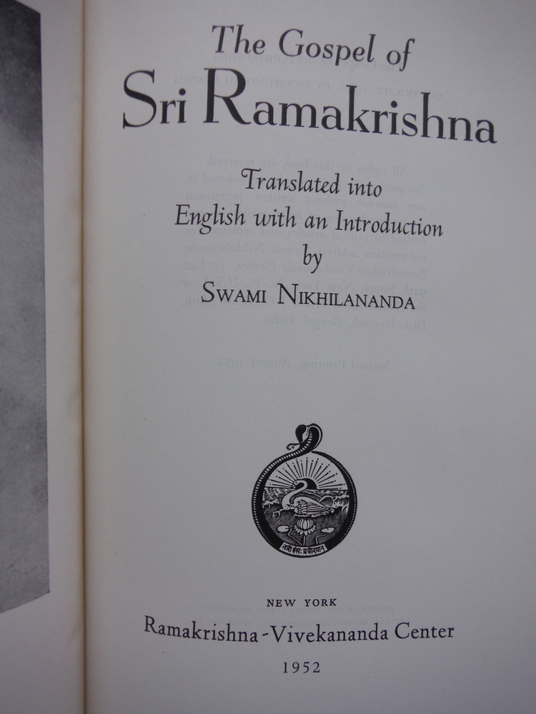 Image 1 of The Gospel of Sri Ramakrishna -- Translated Into English with an Introduction by