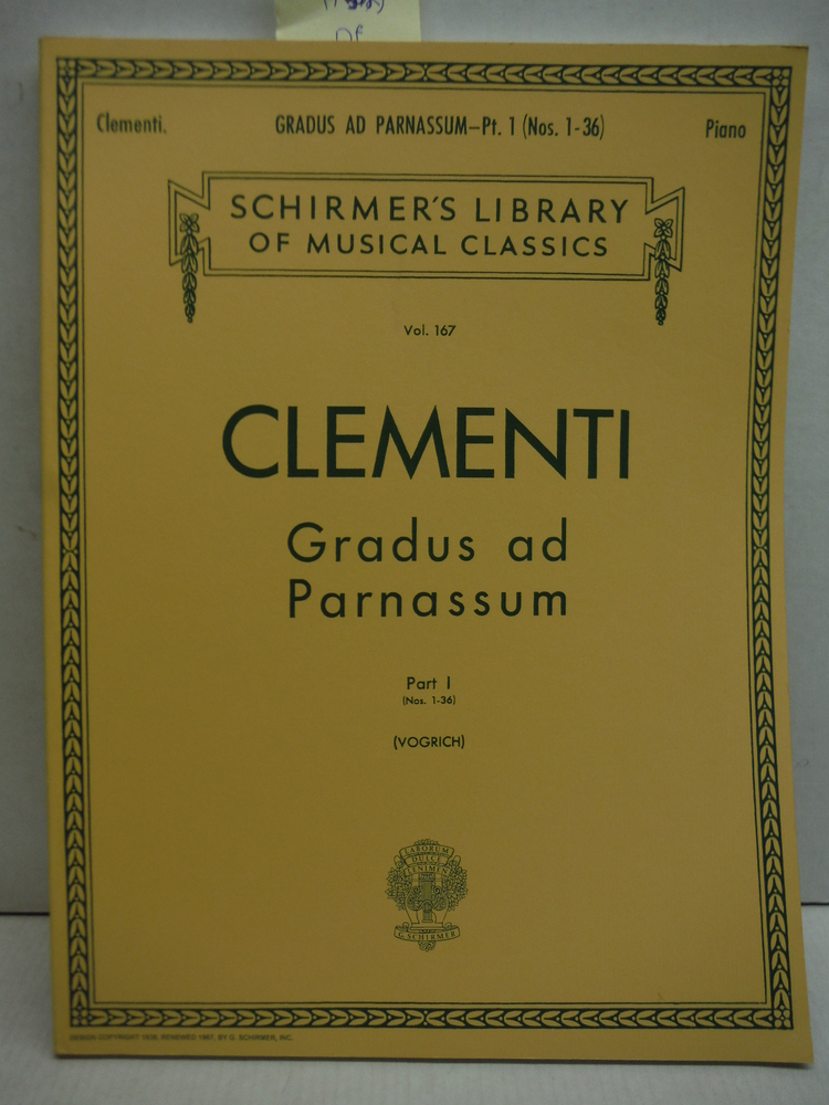 Gradus ad Parnassum Part I