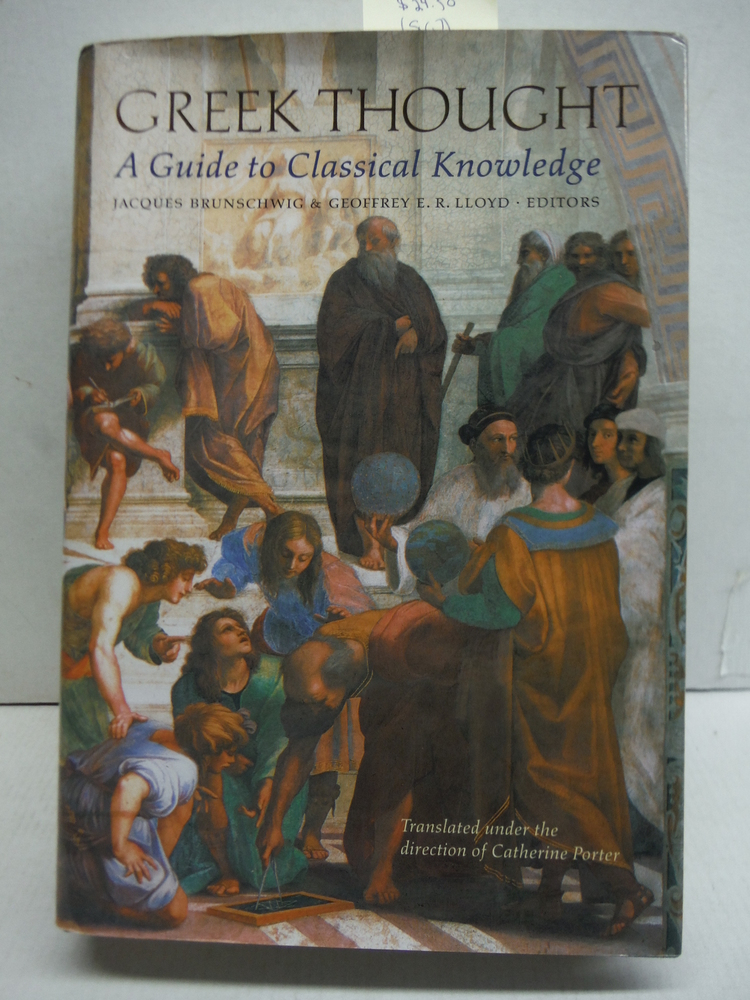 Greek Thought: A Guide to Classical Knowledge (Harvard University Press Referenc
