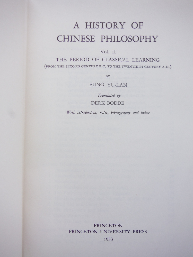 Image 1 of A History of Chinese Philosophy. Two volumes complete