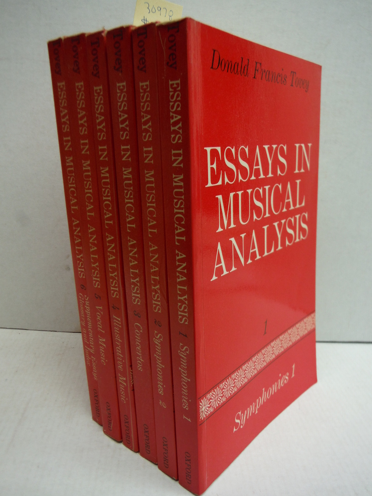 Essays in Musical Analysis  (6 Vols)