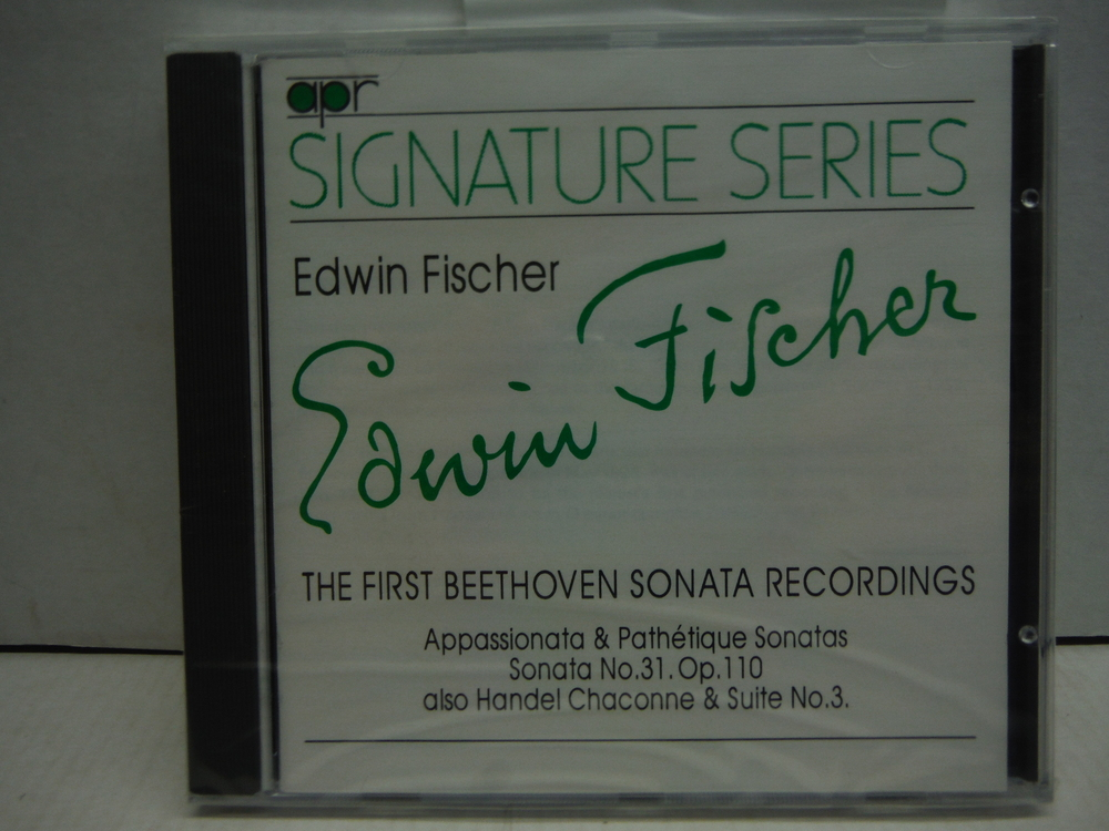 Edwin Fischer: The First Beethoven Sonata Recordings (Signature Series)