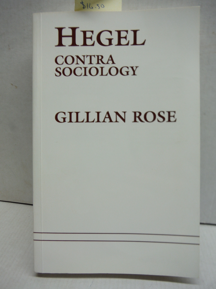 Hegel Contra Sociology