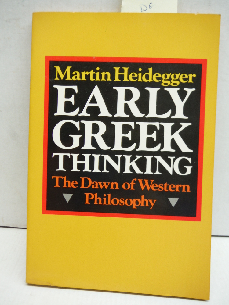 Early Greek Thinking (English and German Edition)
