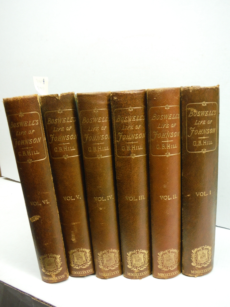 Boswell's Life of Johnson, including Boswell's Journal of a tour to the Hebrides