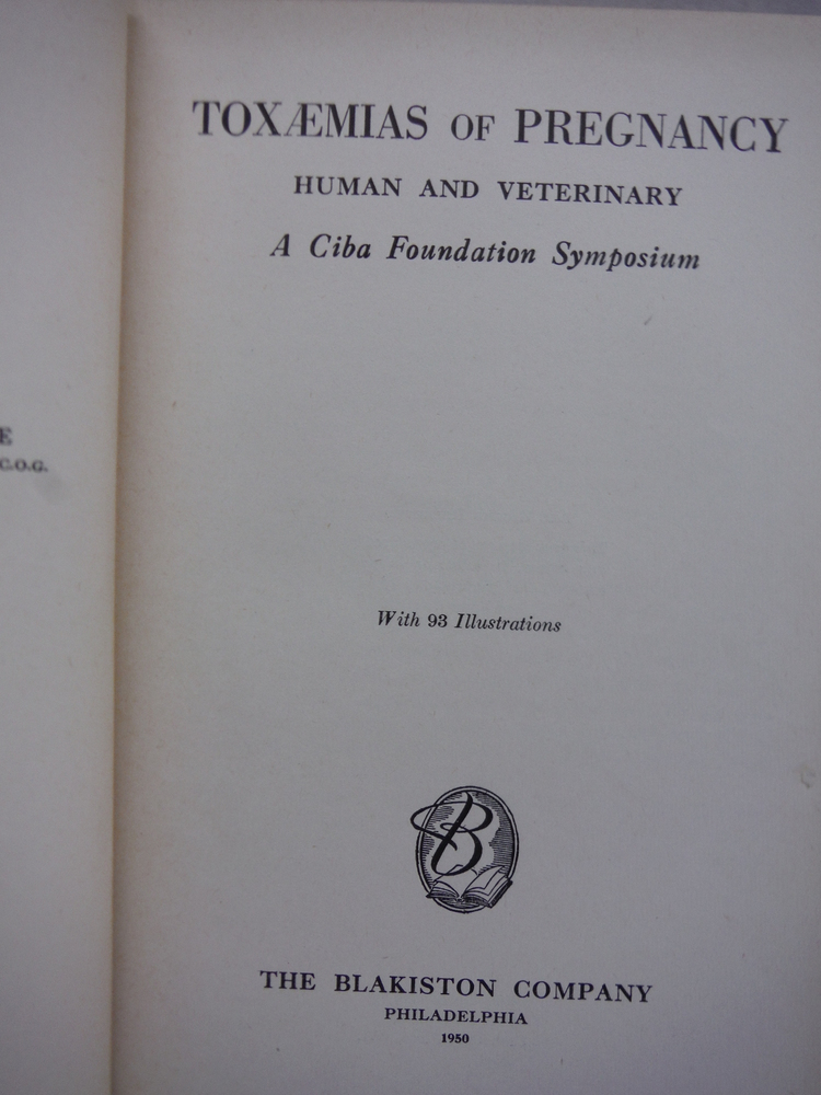 Image 1 of Toxaemias of Pregnancy, Human and Veterinary