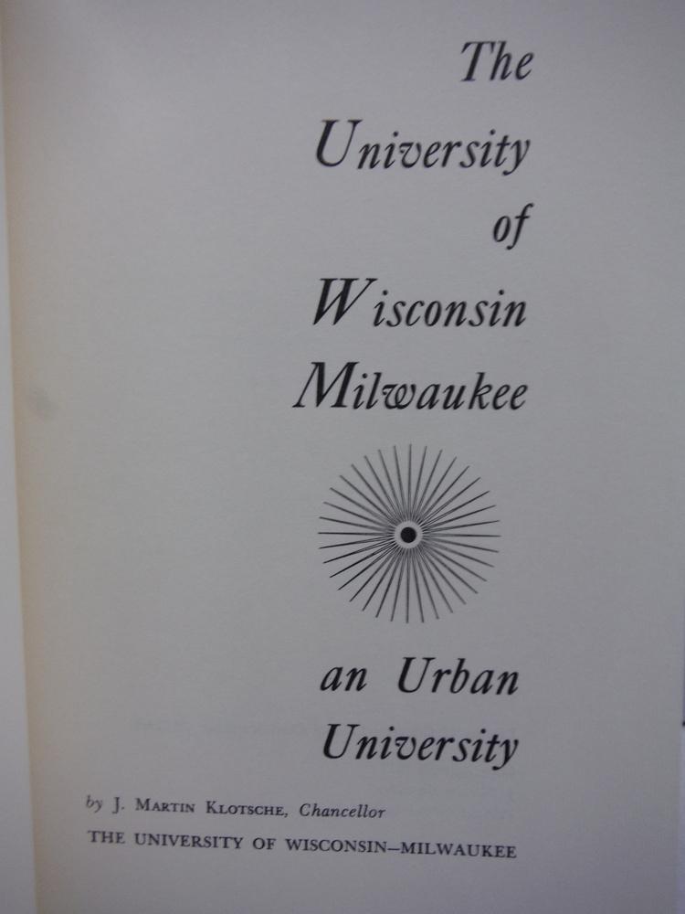 Image 1 of The University of Wisconsin--Milwaukee,: An urban university,