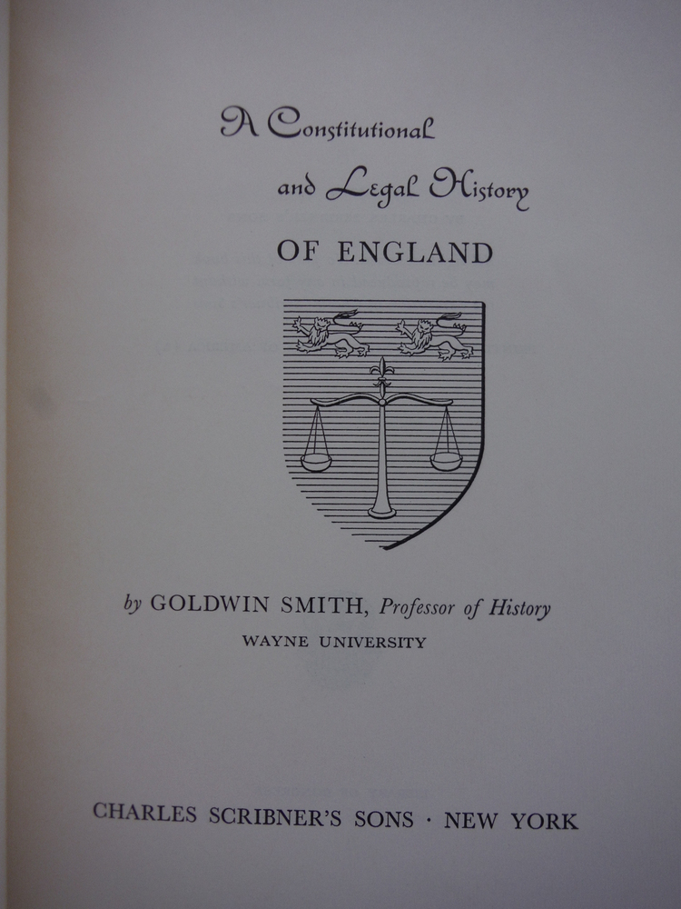Image 1 of A Constitutional and Legal History of England