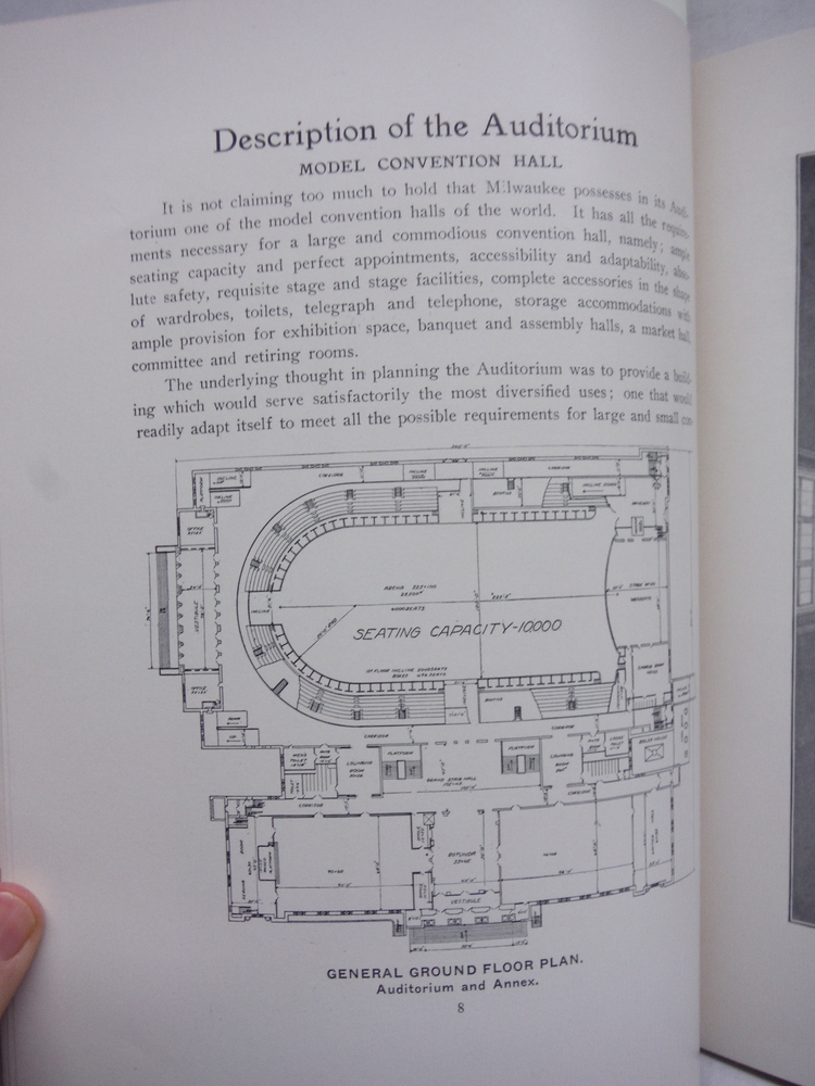 Image 1 of The Auditorium A Detailed Description of the Auditorium Building and a Brief His