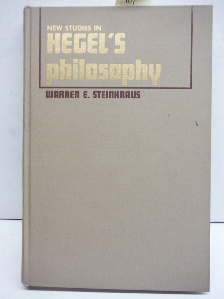 New studies in Hegel's philosophy