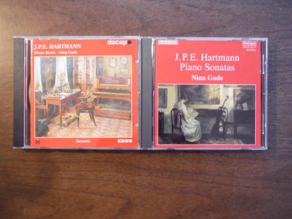 Set of 2 CDs of music by J. P. E. Hartmann.