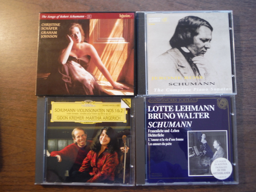 Lot of 4 CDs of music by Schumann.